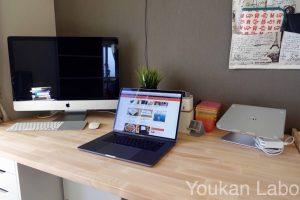 【IKEA】Macのあるお洒落な北欧風デスク環境を作ってみるぞ!ビフォーアフター!